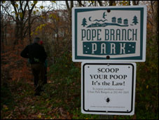 Photo of sign at Pope Branch Park