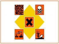 Hazardous waste symbol for lead
